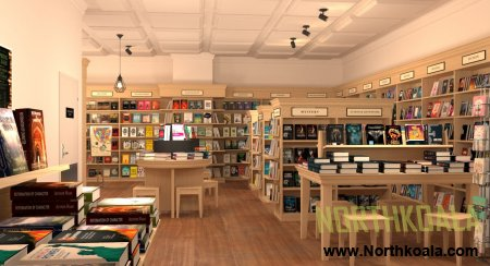 Bookstore 3D Design showroom
