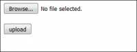 Uploading file to ftp in one php file.